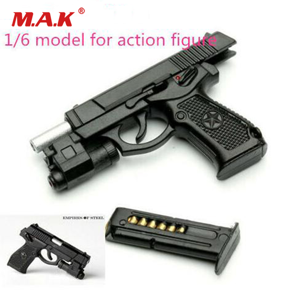 1//6 scale Black Pistol Model ZYTOYS ZY2009B-M9 Plastic Gun Weapon Accessory