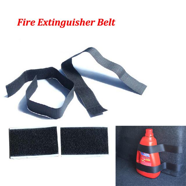 4 Pcs Magic Sticker Tape Car Trunk Hook & Loop Belt Strap Fire Extinguisher Bracket For KIA Toyota Nissan Honda BMW Audi Hyundai