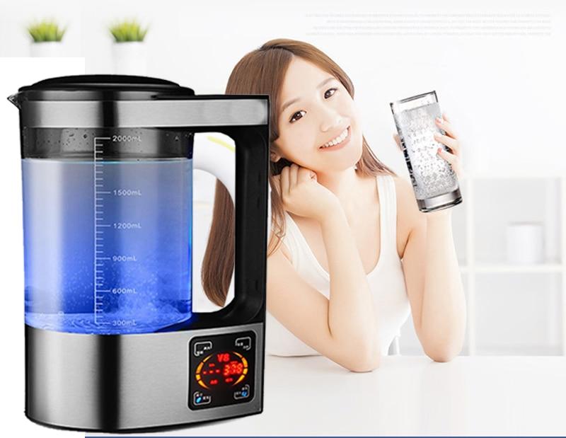 2L Ricco di Idrogeno Bottiglia di Acqua Acqua Alcalina Macchina Ionizzatore Acqua Filtro Bere Idrogeno Generatore di Acqua 110 v/220 v