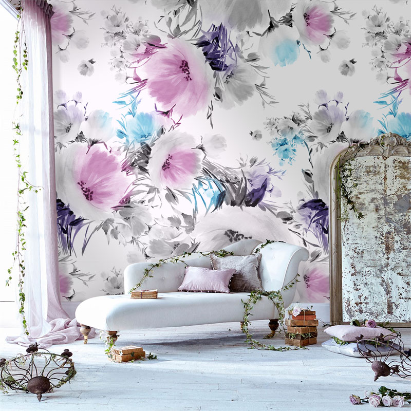 Tuya Art desktop pale pink floral wallpapers for bedroom living room wallpapers home decor on the wall tuya art tuya cutom 3d wallpaper on the wall wholesale photo picture wall mural for the living room bedroom children s room