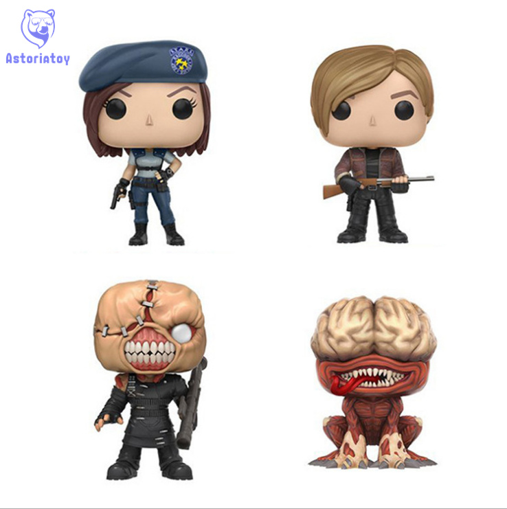 NEW 10cm resident Evil jill nemesis leons licker action figure Bobble Head Q Edition new box for Car Decoration collectible 1 6 jill valentine action figure resident evil model toys feamle full set figures in stock