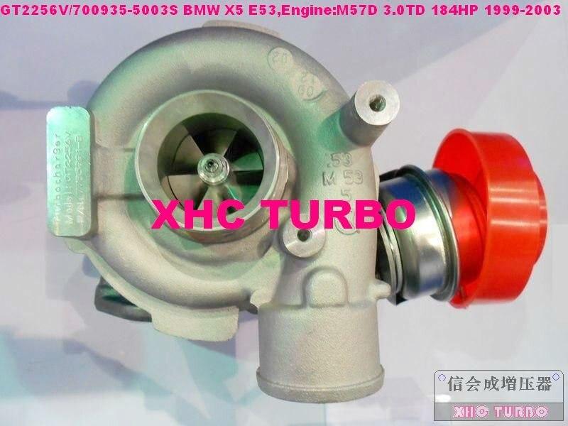 NOVÝ GT2256V / 700935-5003S 7785993B Turbodmychadlo s turbodmychadlem pro BMW X5 E53, M57D 3.0TD 184HP 1999-2003