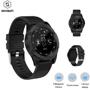 Image 1 - Relógio inteligente homem esporte adulto à prova dwaterproof água relógio inteligente android suporte cartão sim tf crad pedômetro câmera bluetooth smartwatch