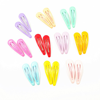 20 Pcs Assorted Pairs Candy Color Toddlers' Hair Clips Girls' Hairpin 2 Inch Barrettes Kids Hair Accessories