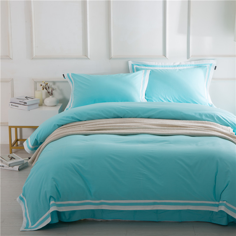 4Pieces Queen King size gray white blue Luxury Bedding Set hotel Bed sets Duvet Cover Bed sheet/linen set Soft Bedclothes