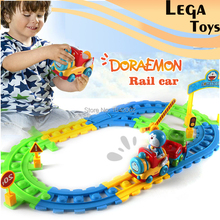 Classic Cartoon Toy Train Starter Set-Tracks & Accessories, Train Cars for Toddlers & Older Kids Electronics Rail Toy Train Sets