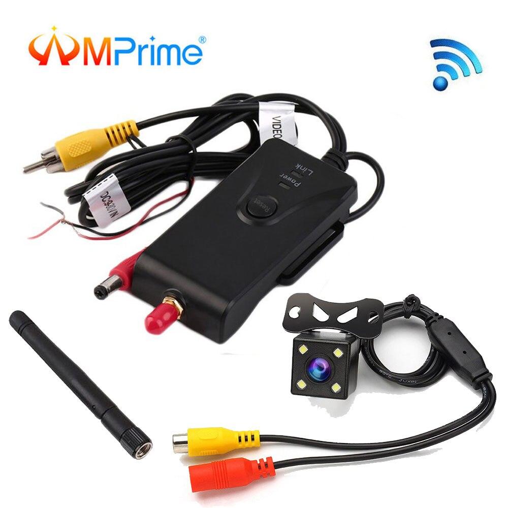 AMPrime 2,4 г влагозащищенный Wifi автомобильный обратный резервный передатчик камеры для автомобиля аэрофотосъемка с видом от первого лица Авто...