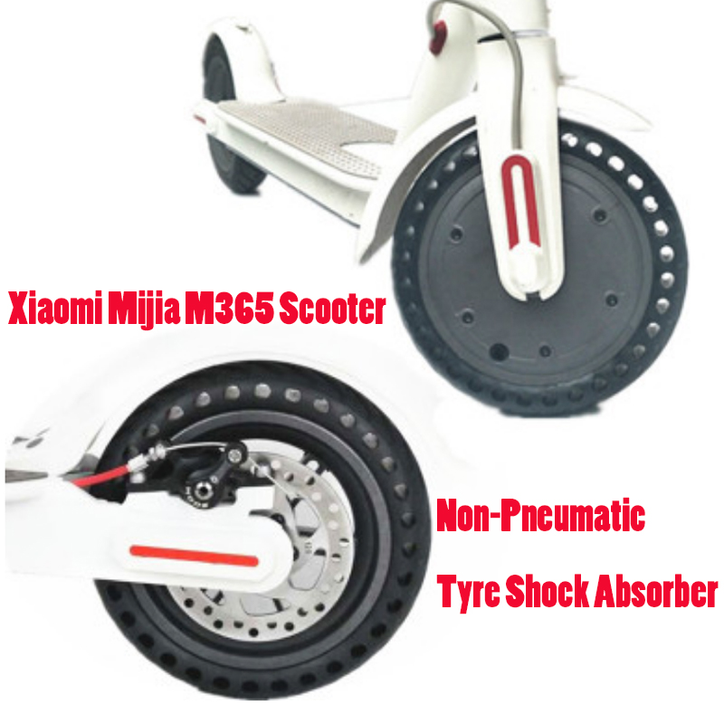 Xiaomi Mijia M365 Scooter Skateboard Solid Hole Tires 21cm Avoid Non-Pneumatic Tyre Shock Absorber Porous Damping Tyres Wheels