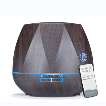 2018 Newest Wood Grain Aromatherapy Essential Oil Diffuser Ultrasonic Air Aroma Humidifier with LED Lights 500ML Mist Maker tsundere l air humidifier 500ml essential oil diffuser essential oil wood grain cool mist maker aromatherapy for home