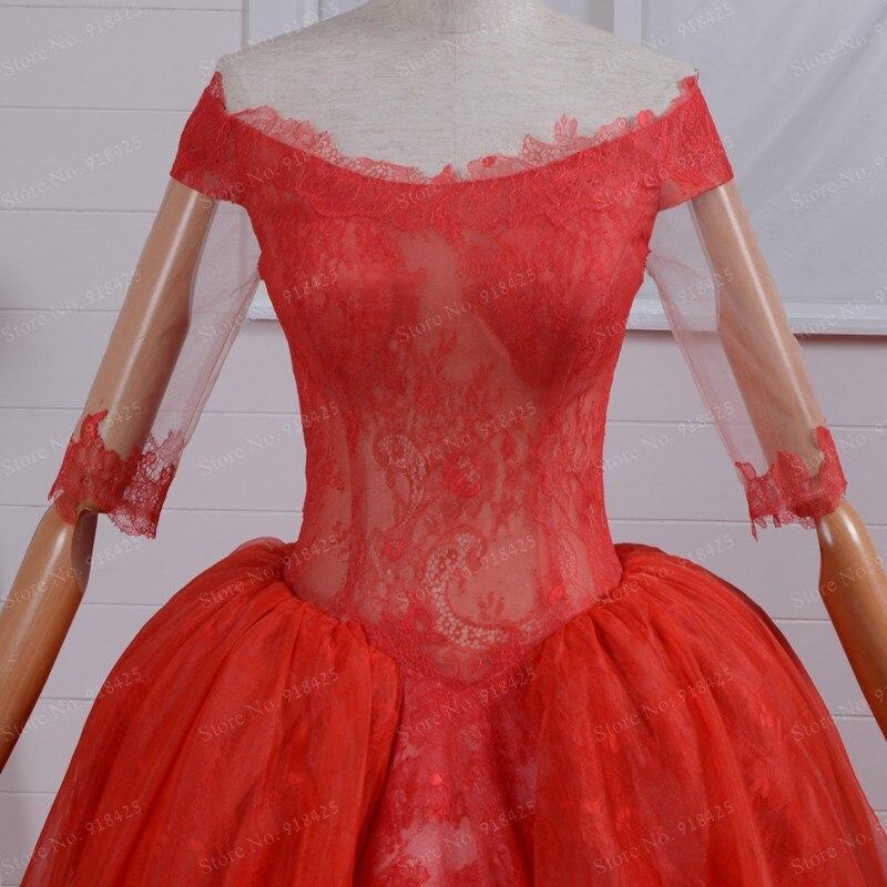 Viktorianischen Stil Mieder Durchsichtig Ballkleid Red Brautkleider ...
