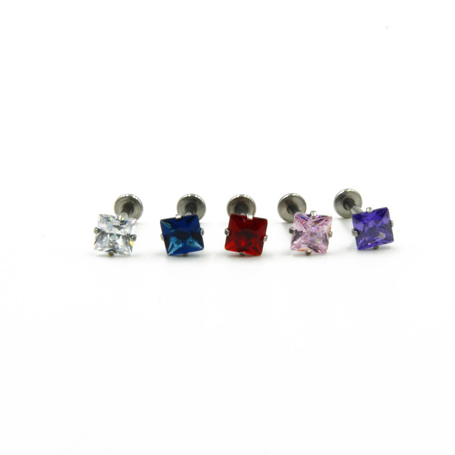 16Gauge Steel Stylish Labret Monroe Lip Stud
