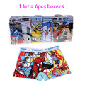 Children Underwear Boys Boxer Shorts Kids Baby Cotton Panties Boys Underwear underpants Spiderman Despicable Me Minion 6pcs/lot
