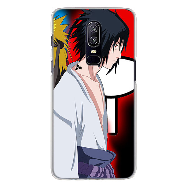 Naruto and Sasuke Best Friend Phone Case for OnePlus 6T 6 5T Hard PC back Case for Oneplus 6 6T Mobile Phone Bag Case