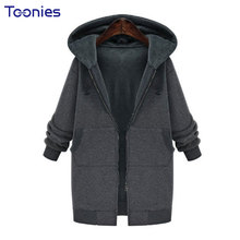 Plus Size 5XL Casual Streetwear Jacket Coat Zip-up Hooded Outwear Pockets Cotton Thick Winter 2017 Solid Black Brand Coats Slim