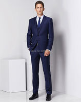 wuzhiyi wedding suits for men Nice Bule Wedding Groom Suit dress for man traje hombre tuxedos for men Custom made blue gowns