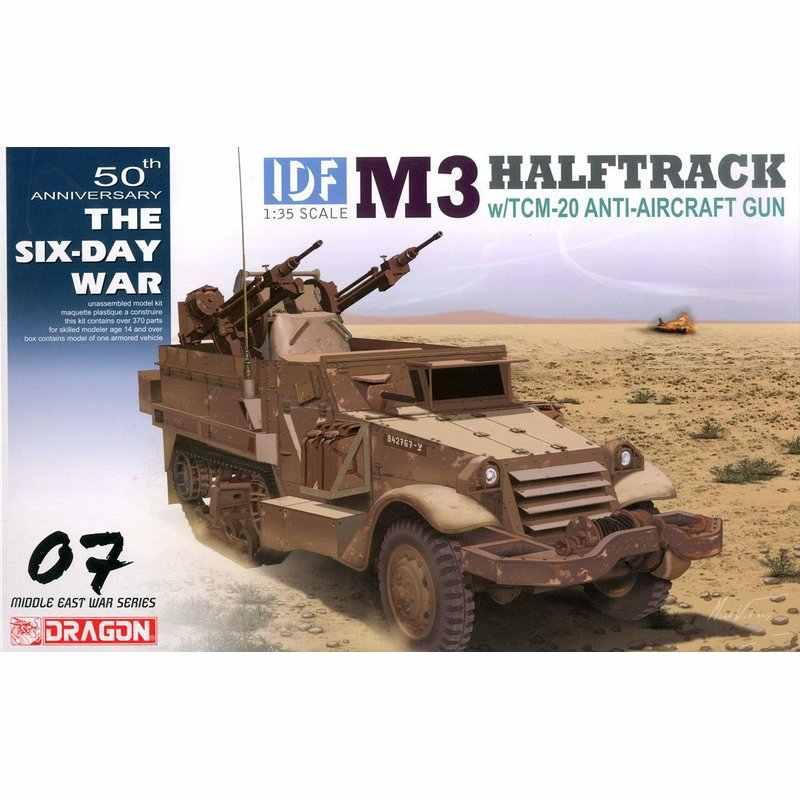 DRAGÃO 3586 1/35 IDF M3 HALFTRACK w/TCM 20 Anti Aircraft Gun Kit modelo de Escala Kits de modelo de construção  - AliExpress
