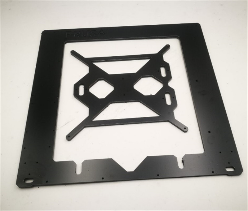 Funssor 3D Printer Reprap Mendel Prusa i3 Aluminium composit Melamine single Frame 6mm CNC black Melamine [sintron] reprap prusa mendel i3 3d printer laser cut transparent acrylic sheet frame kit 5mm thickness free shipping
