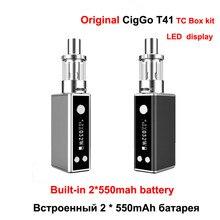 Оригинальный CIGGO T41 TC поле mod электронные сигареты Box oled-дисплей 1100 мАч батареи 41 Вт электронных сигарет mod kit