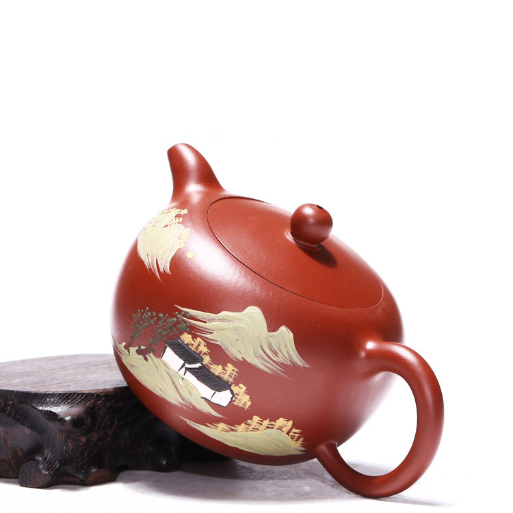 like hot cakes are recommended by the manual undressed ore mud dahongpao zhu round pearl pot wholesale kung fu tea setlike hot cakes are recommended by the manual undressed ore mud dahongpao zhu round pearl pot wholesale kung fu tea set