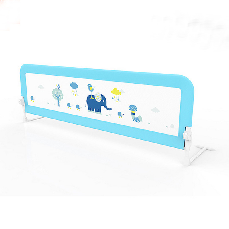 1.5M Children Cute Bed Fence Toddler Baby Crib Barrier Protection Column Kids Lovely Cartoon Pattern Guardrail Baby Sleep Safe
