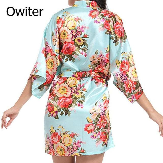 184dbf2756 Floral satin robe bridesmaid robes gowns bride bath robe