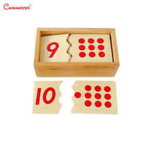 Numbers Puzzles Math Toys Beech Wood With Box for Children Montessori Materials Kids Learning Maths 1-10 Practices MA009-3