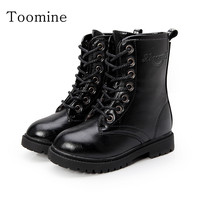 Girls Boots Girls PU Leather Children Snow Winter Ankle Boots Shoes Kids Martin Casual Boot Flats