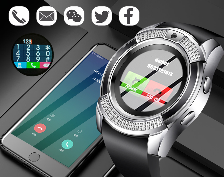 BANGWEI Men Women Smart Watch WristWatch Support With Camera Bluetooth SIM TF Card Smartwatch For Android Phone Couple Watch 10