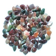 100g natural purple green agate gravel crystal original stone  for Buddha fish tank flower decoration decorative small stone цены