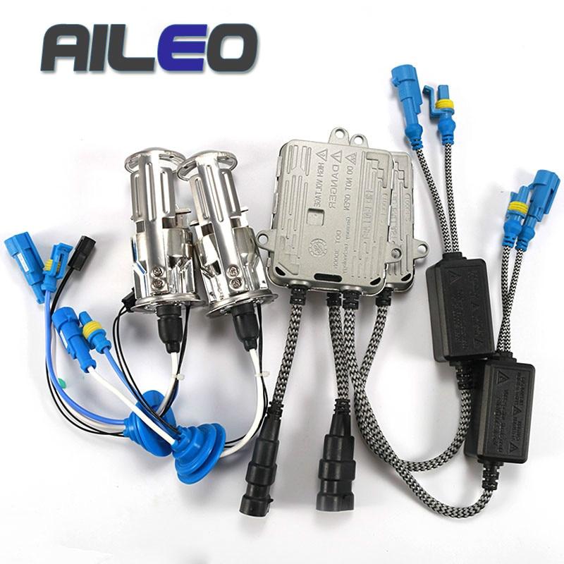 AILEO Bi xenon h4 mini projecteur installation sans perte costume caché installation facile h4 xénon RHD LHD 55 W 6000 K 4300 K 8000 K