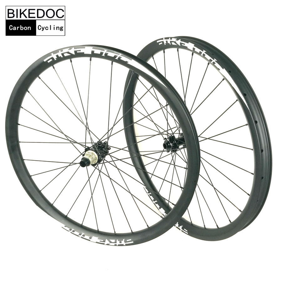 BIKEDOC 40mm*30mm Mountain Bike Wheels 27.5er/29er High Quality MTB Wheelset For Downhill And All Mountain Using Carbon Wheels factory direct mountain bike clincher wheelset 29 inch 27 5er carbon mtb wheels 29er 650b carbon mtb wheels tubeless rims