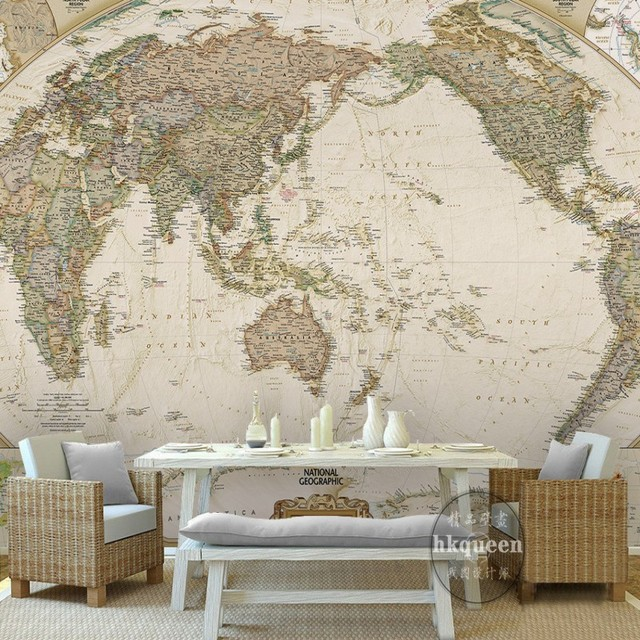 Custom wall mural world map wallpaper retro nostalgia nautical route custom wall mural world map wallpaper retro nostalgia nautical route bedroom study room 3d stereo bathroom gumiabroncs Image collections