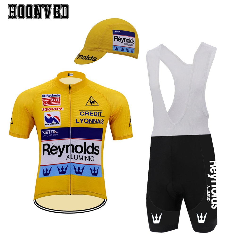 e59f101f6 Detail Feedback Questions about The Tour de France Pro Man Retro yellow  Reynolds cycling Jersey suit Short sleeves Bib Shorts 9D Gel Pad maillot  ciclismo ...