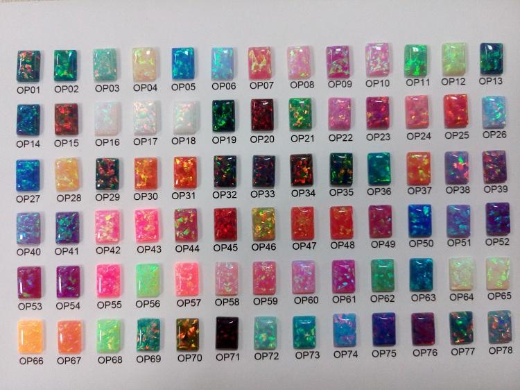 78 colors new opal color chart