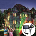 IP65 наружная солнечная панель лазерный проектор небо звезда сценический прожектор дождь рождество пейзаж сад лужайка свет лампы проектора