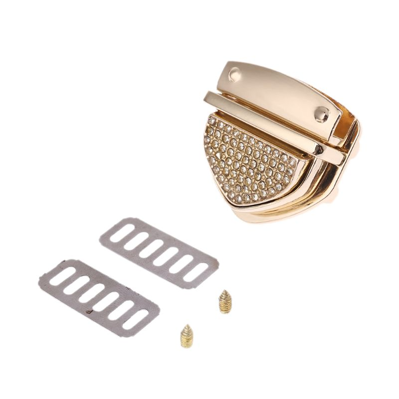 New 1 Pc Metal Clasp Turn Locks Twist Lock For DIY Craft Replacement Handbag Crossbody Shoulder Bag Purse Hardware Accessories