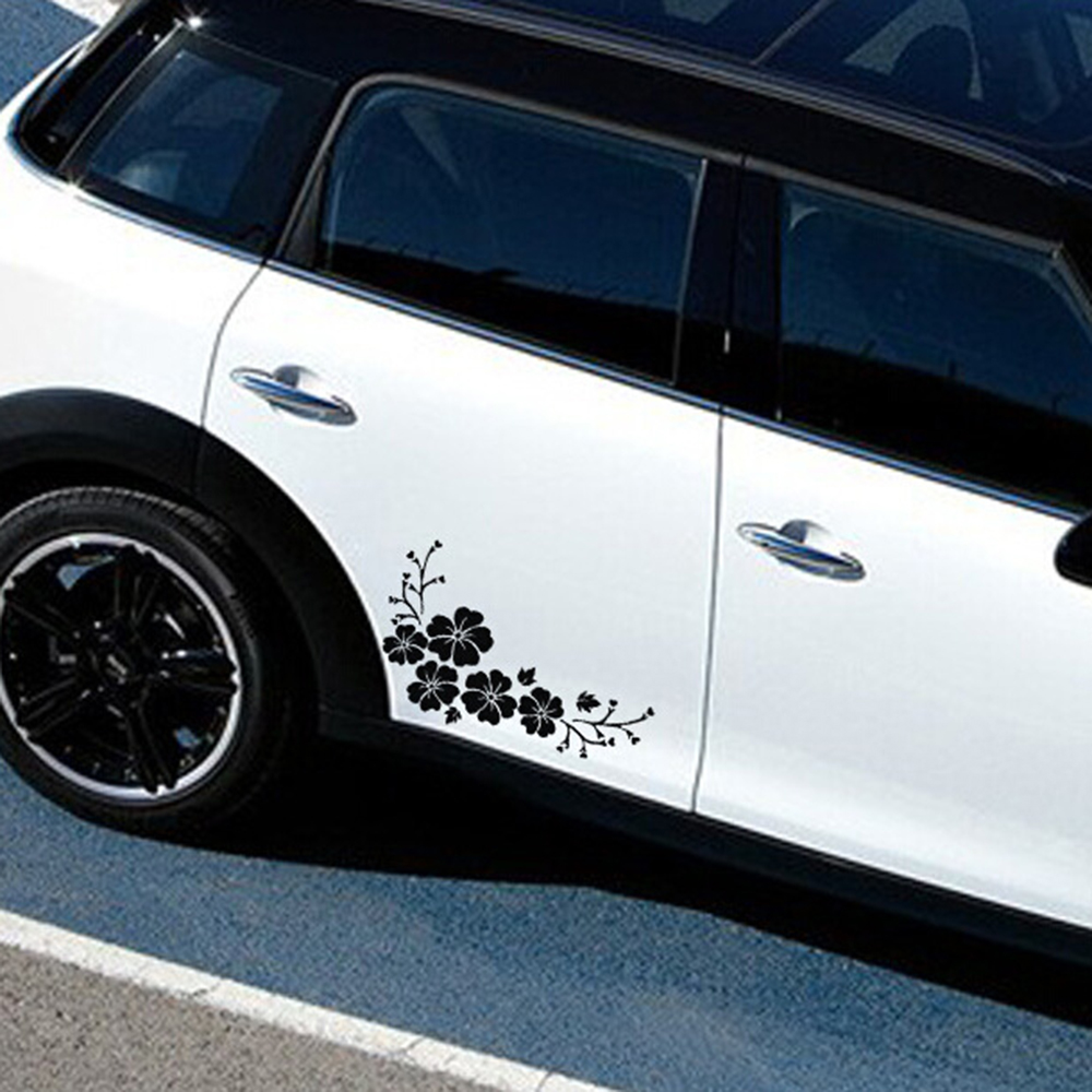 Car stickers design for alto - 1 Piece Lovely Flowers Car Stickers Decorative Funny Decoration Sticker Car Styling Exterior Accessories Car