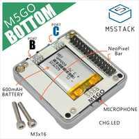 M5Stack batería inferior ESP32 Kit magnético USB-C M5GO/fuego batería inferior con 600mAH MIC/Neoflash Bar IoT