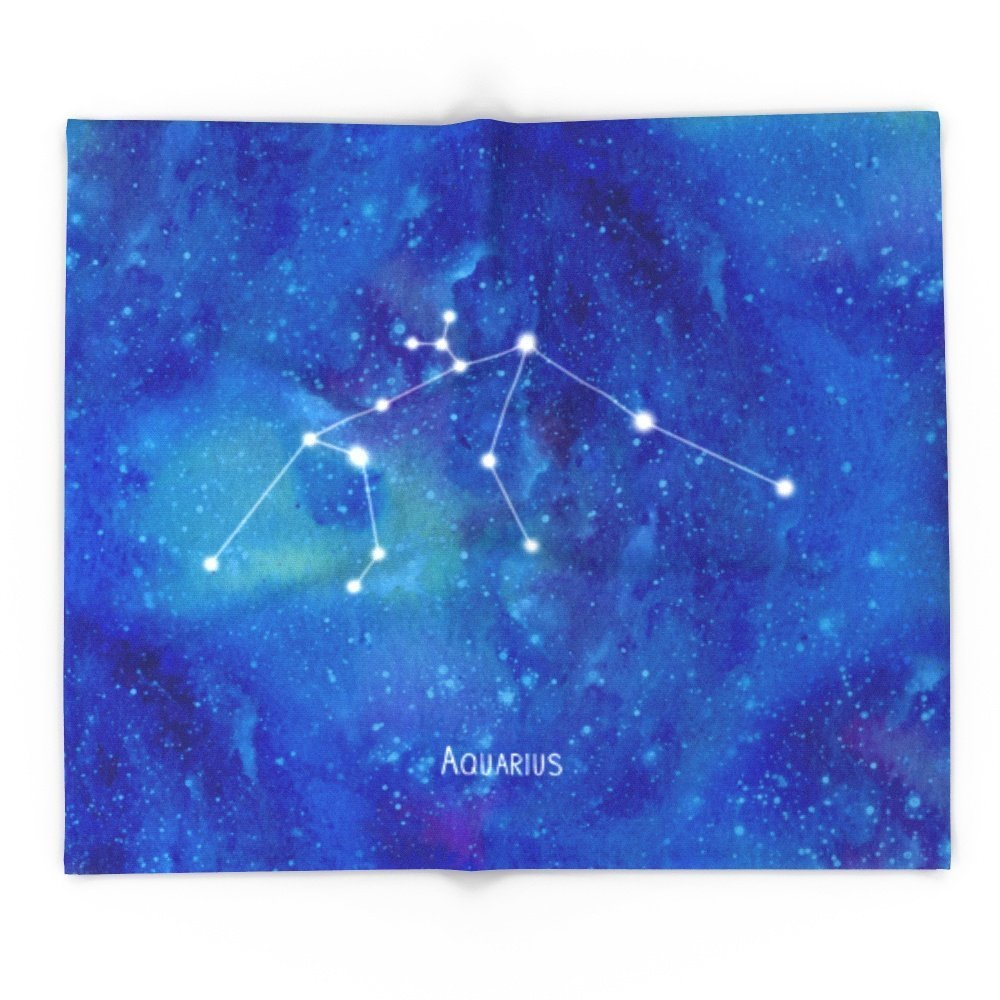 Constellation Aquarius 68 x 80 Blanket Throw on Sofa Bed Plane Plaids Solid Bedspreads Home TextileConstellation Aquarius 68 x 80 Blanket Throw on Sofa Bed Plane Plaids Solid Bedspreads Home Textile