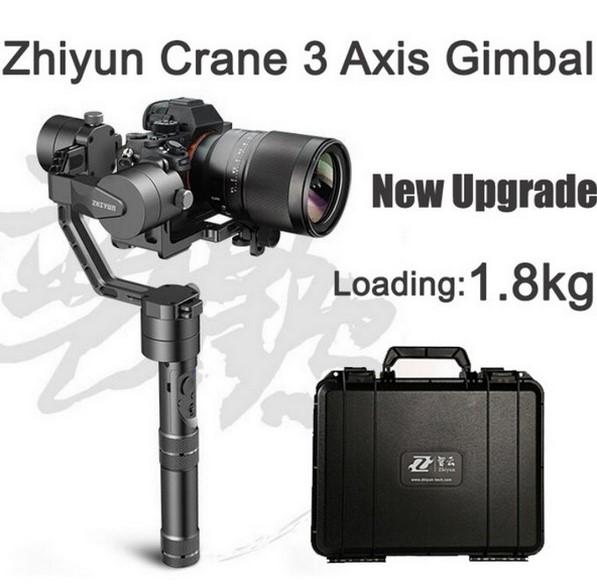 JMT 2017 NEWEST Zhiyun Crane V2 3-axis Handheld Stabilizer Gimbal for DSLR Canon Sony Camera Support 1.8KG w/ Suitcase Battery x cam sight2 2 axis smartphone handheld stabilizer mobile phone brushless gimbal with bluetooth for iphone samsung xiaomi nexus