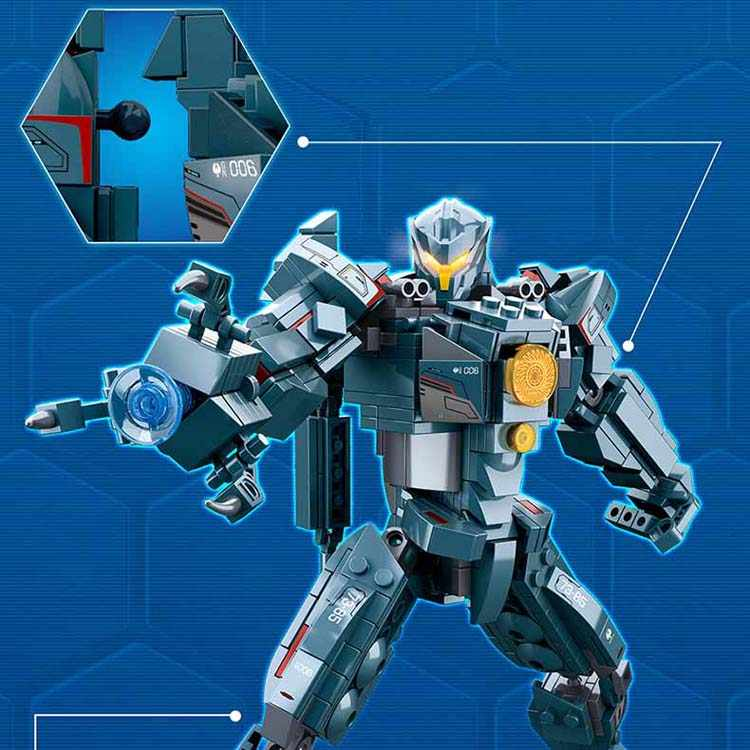 12*24 CM Pacific Rim Jaeger Gipsy Danger and Battle Damage Gipsy Danger  Action Figures Collectible Building blocks Model Toy