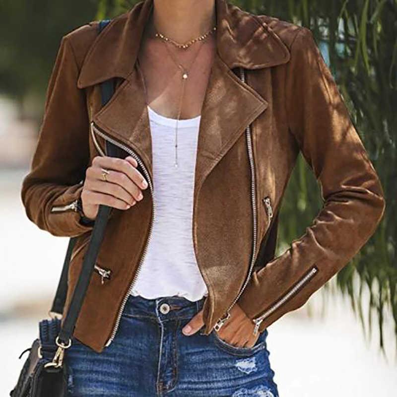 Модная Женская туника на молнии армейская куртка пальто повседневные женские