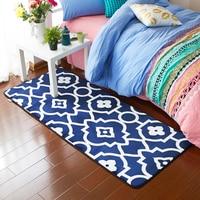 Blue White Window Pattern 1Pcs Anti Slip Suede Carpet Door Mats Doormat Outdoor Kitchen Room Floor Mat Rug 150X190CM 2 Size Soft