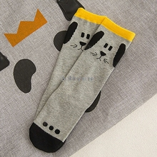 knee high kids leg warmers Baby hot style cartoon cotton leg warm boy girl fox duck pattern children leg warmers kids stocking-in Leg Warmers