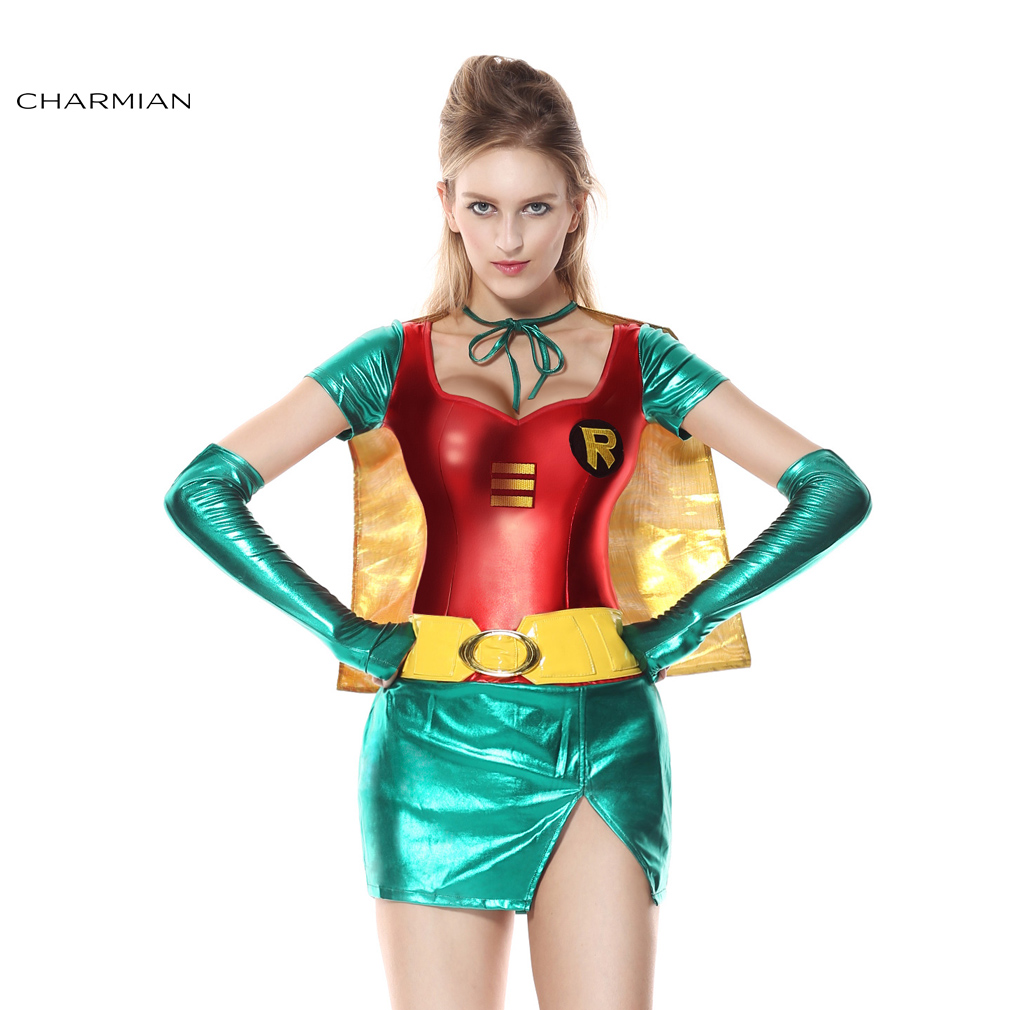 Charmian Halloween Costume For Women Sexy Robin Super Hero Anime Cosplay Carnival -3649