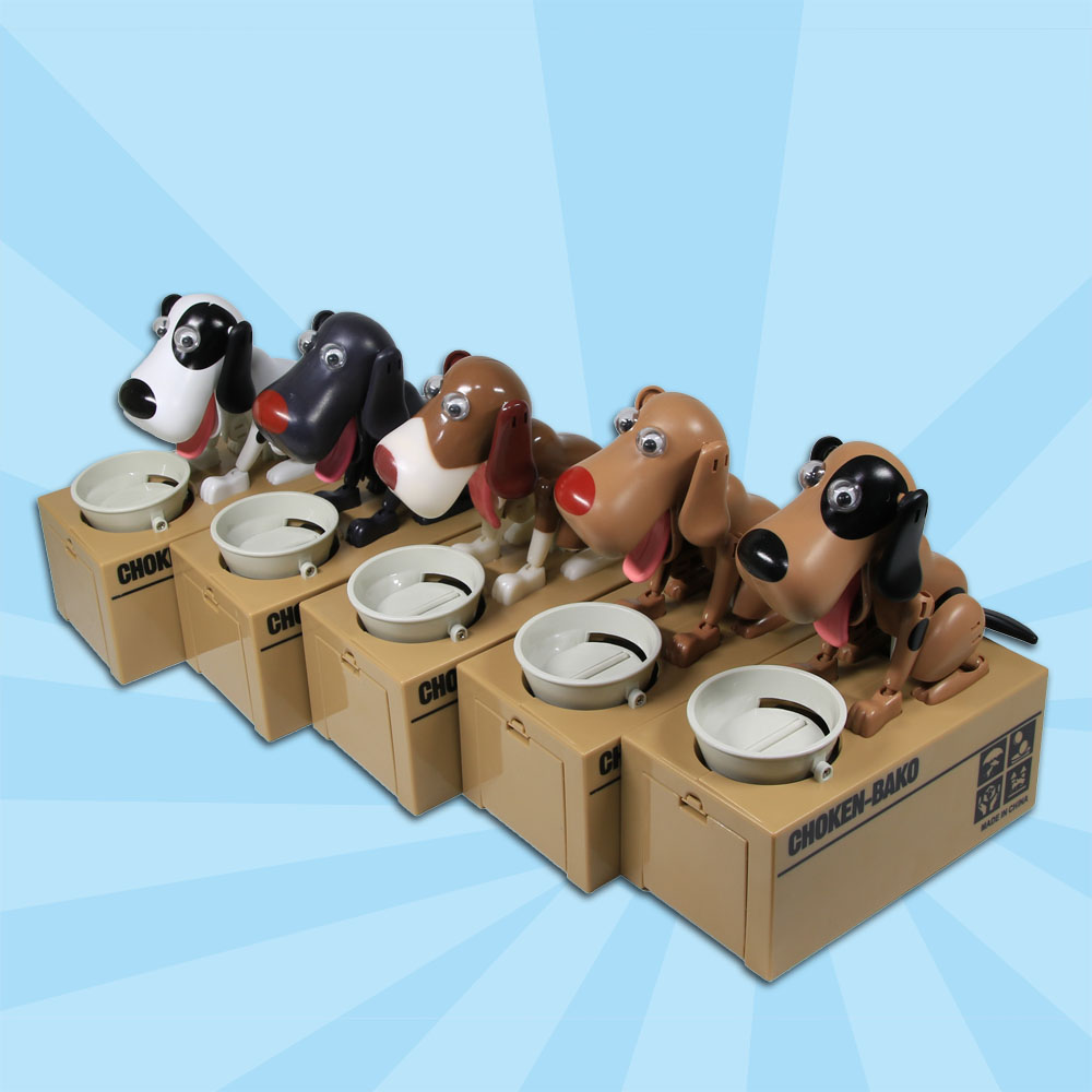 1Piece Cutest Choken Bako Robotic Dog Bank Doggy Coin Bank Canine Animals Money Box For Dog Lover Gift