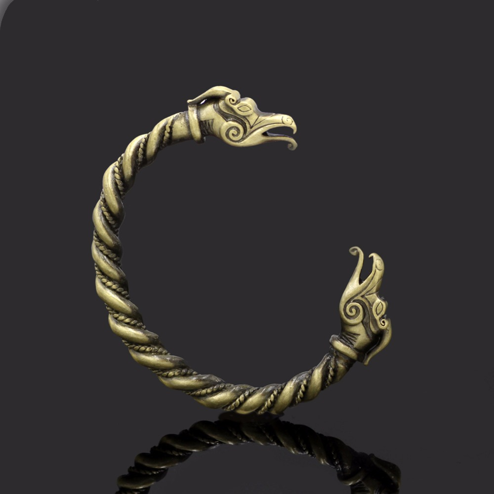 Jewelry & Accessories Viking Bracelet With A Dragon Wrist Dragons Norse Viking Bangle Bracelet Latest Technology