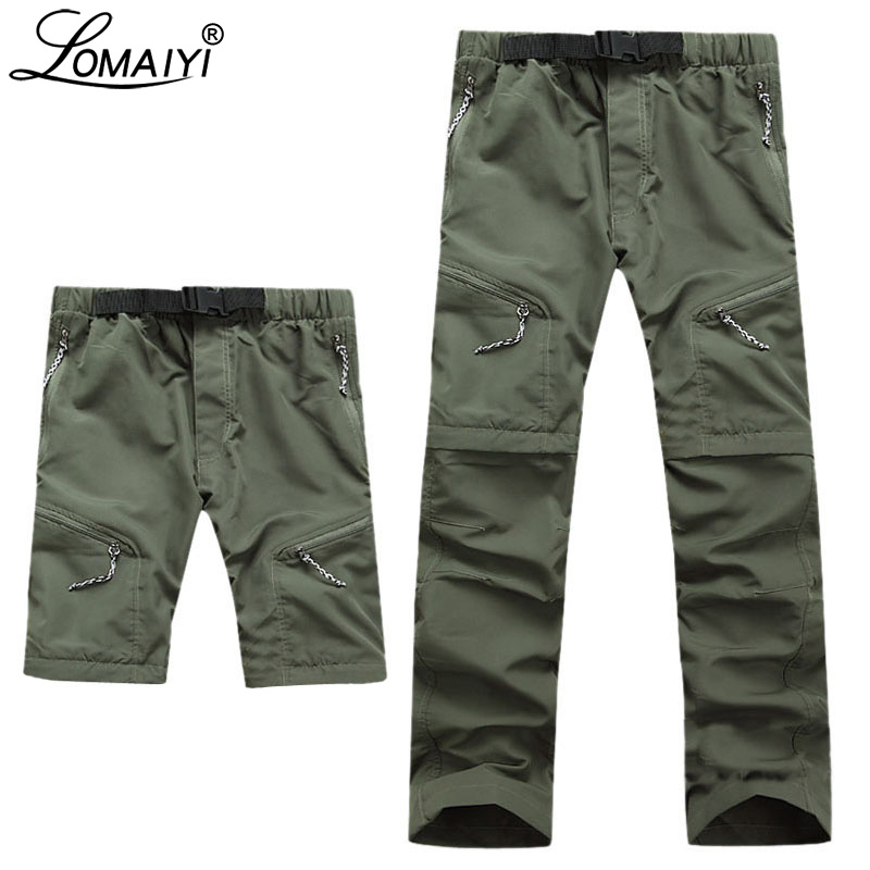 LOMAIYI Multifunction Cargo Pants Men Spring/Summer Ultra Thin Men's Cargo Trousers Male Khaki/Black Quick Dry Pants Man AM001