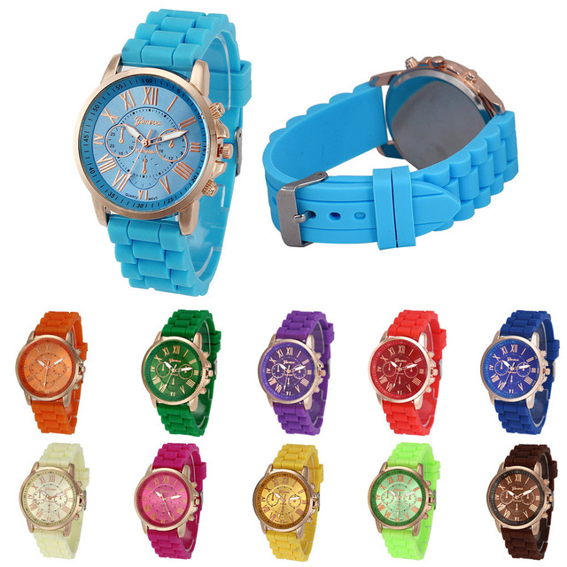 2018 New Fashion 11 Colors Women Silicone Analog Quartz Wrist Watch relogio feminino Women's watches Ladies dress
