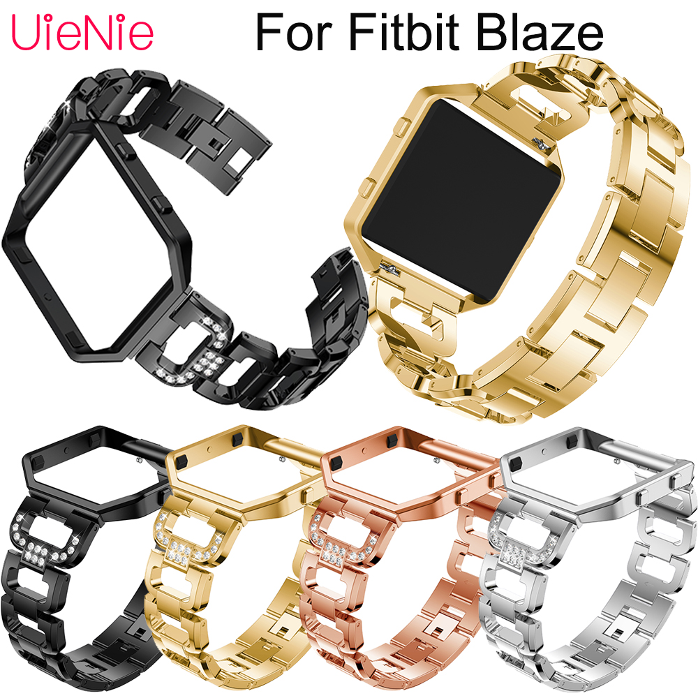 Stainless steel wristband Bezel For Fitbit Blaze smart watch men 39 s watches women 39 s bracelet For Fitbit Blaze strap accessories in Watchbands from Watches